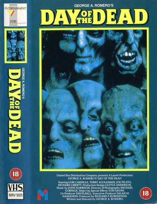 DAY OF THE DEAD UK ENTERTAINMENT IN VIDEO VHS front