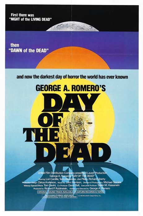George A Romero's Day of the dead Theatrical poster