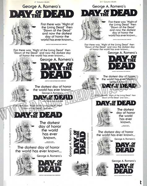 Day of the Dead Advertising Press Sheet Halloween Campaign 3