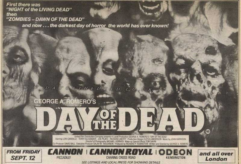 Day of the Dead Newspaper Advertisement
