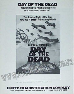 Day of the Dead Advertising Press Sheet Halloween Campaign