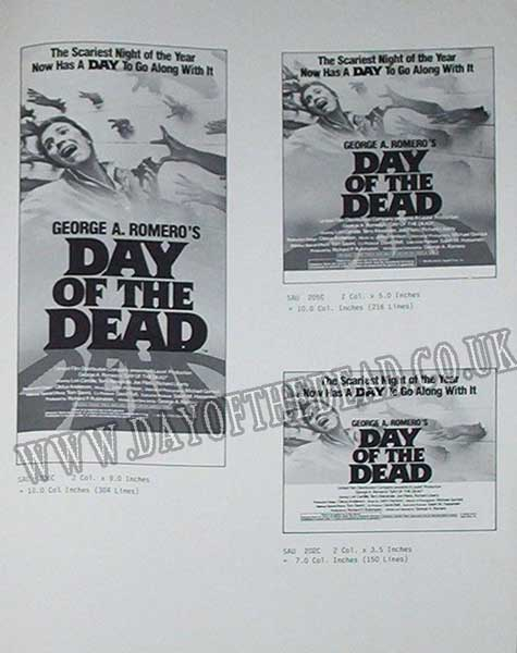 Day of the Dead Advertising Press Sheet Halloween Campaign 2