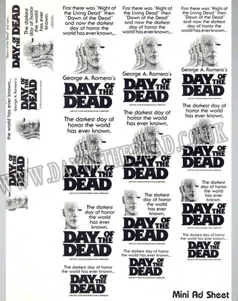 Day of the Dead Advertising Press Sheet Halloween Campaign 4